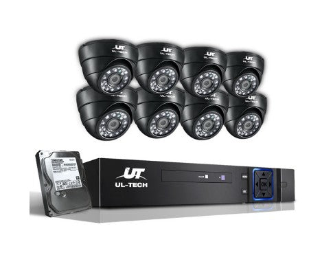 1080P Eight Channel HDMI CCTV Security Camera (8) 1TB