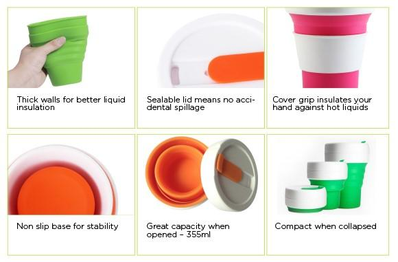 Collapsible Silicon Coffee Cup