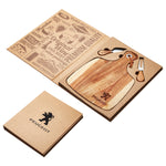 Acacia Cheeseboard & Knife Set - Including Laser Engraving