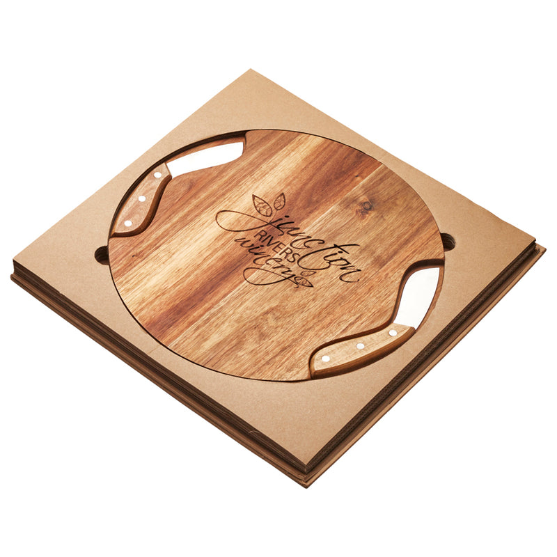 Soroba Cheeseboard & Knife Duo - Including Laser Engraving