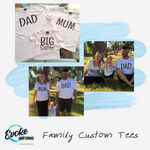 MUM, DAD, BIG SISTER/BROTHER TEES (PACK OF 3)