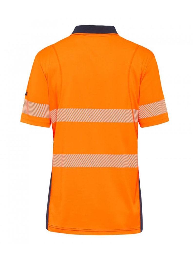 King Gee K54215 Workcool Hyperfreeze Spliced Polo Short Sleeve with Segmented Tape