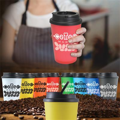 Double Walled Coffee Cup - with 1 colour print