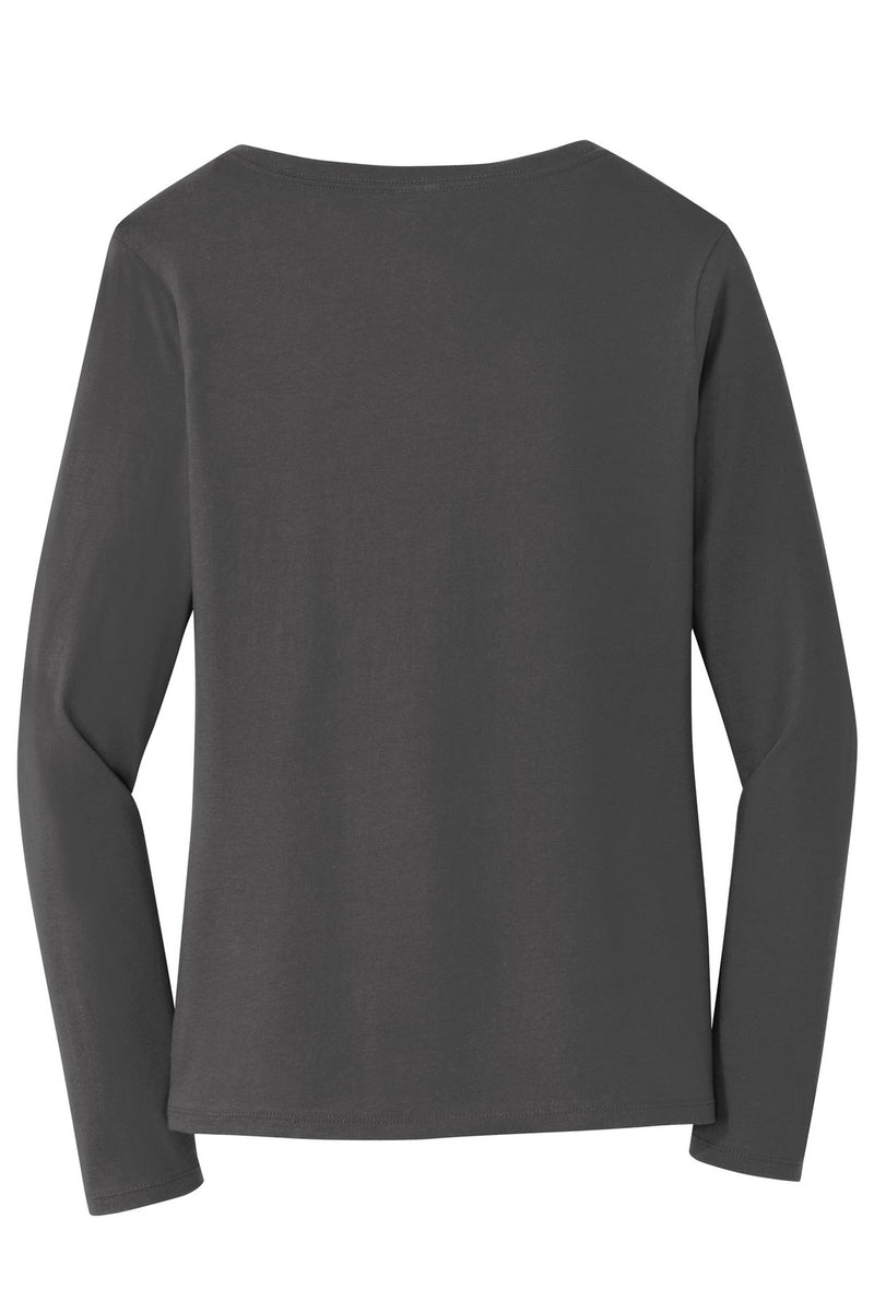 Port & Company Ladies Long Sleeve Fan Favorite V-Neck Tee. LPC450VLS rear