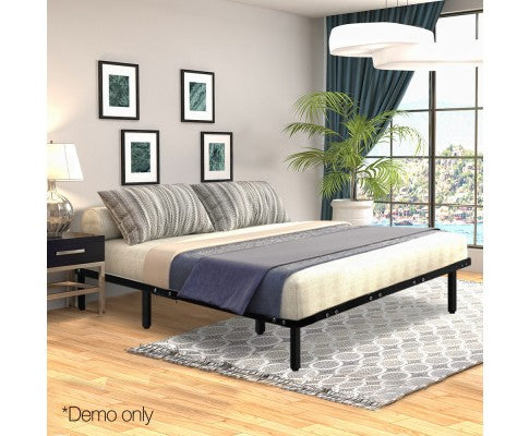 Metal Bed Base Frame Black - Queen