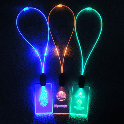LED Lanyard with illuminating Cable