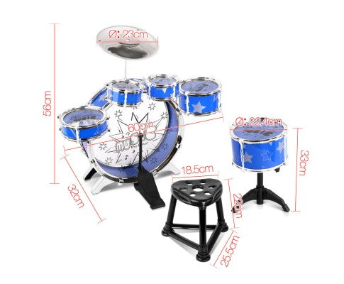 11 Piece Kids Pretend Play Music Drum Set