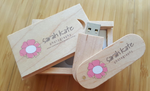 Swivel Wooden USB with Free Display Box - 2GB