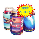 Stubby Holder with Base & Taped Seam - Full Colour
