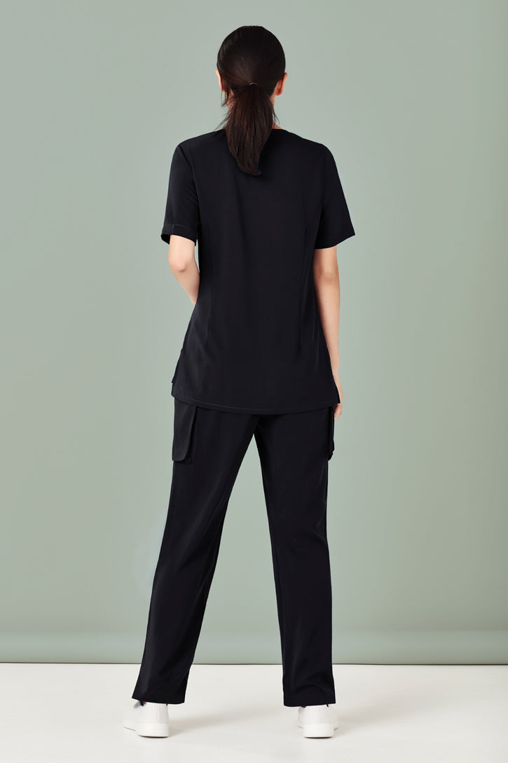 Biz Collection CST942LS Tailored Fit Round Neck Scrub Top Ladies_2
