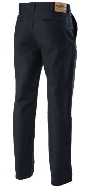 Moleskin Plain Front Cotton Trousers