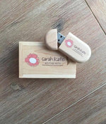 Oval Shaped Wooden USB with Free Display Box - 2GB