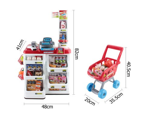 24 Piece Kids Pretend Play Super Market Toy Set
