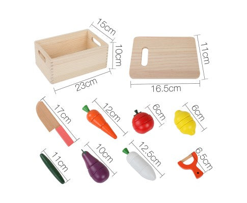 29 Piece Kid's Wooden Food Play Set