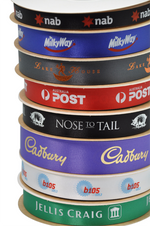Satin Ribbon - Single Sided - with 1 colour print