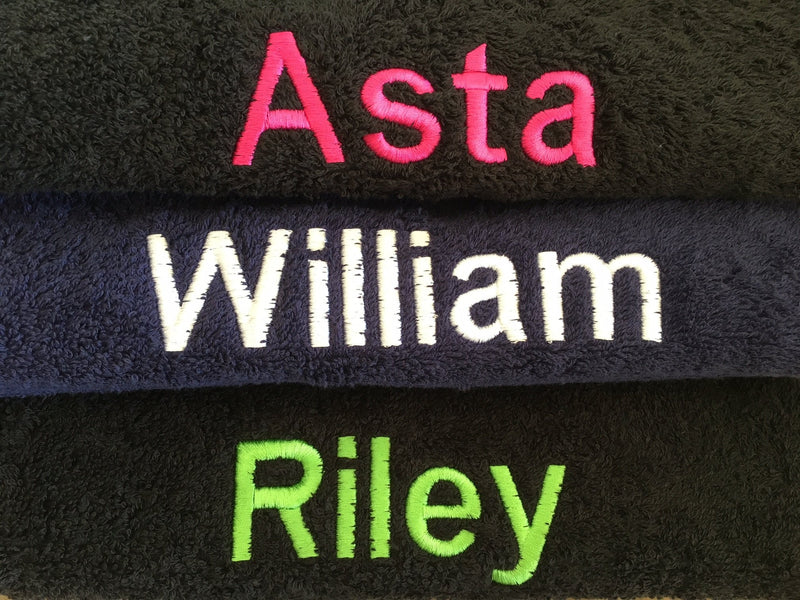 Personalised Plush Bath Towel