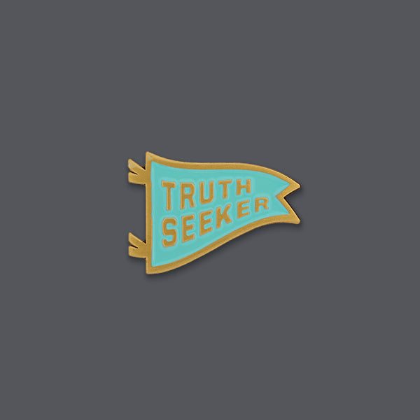 Notes to self truth seeker enamel pin