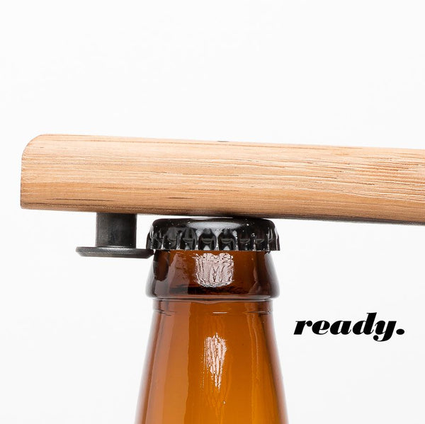 Quercus Alba Reclaimed Wood Bottle Opener : ready