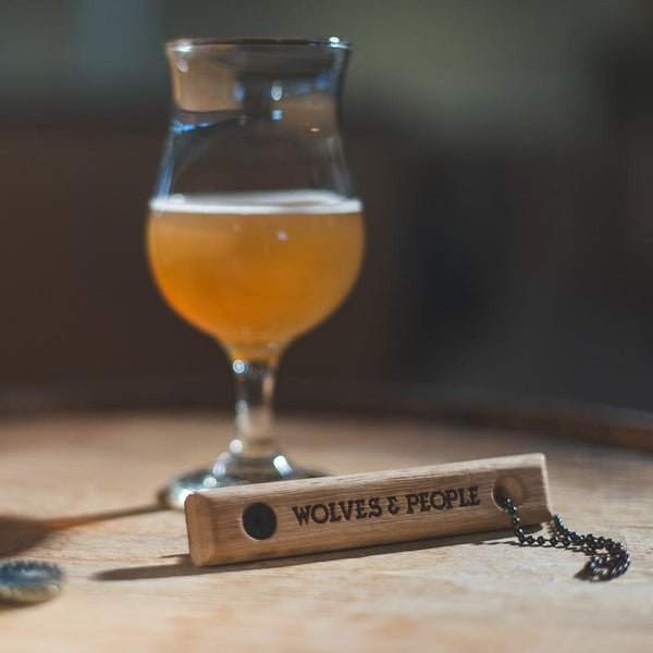 Quercus Alba Reclaimed Wood Bottle Opener: CUSTOM - Wolves & People
