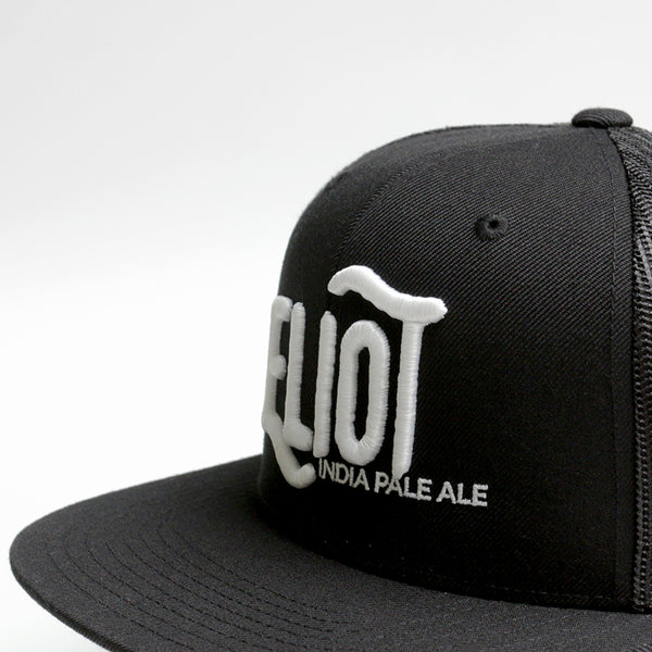 3D puff embroidery flatbill snapback hat cap ExNovo brewery Eliot IPA