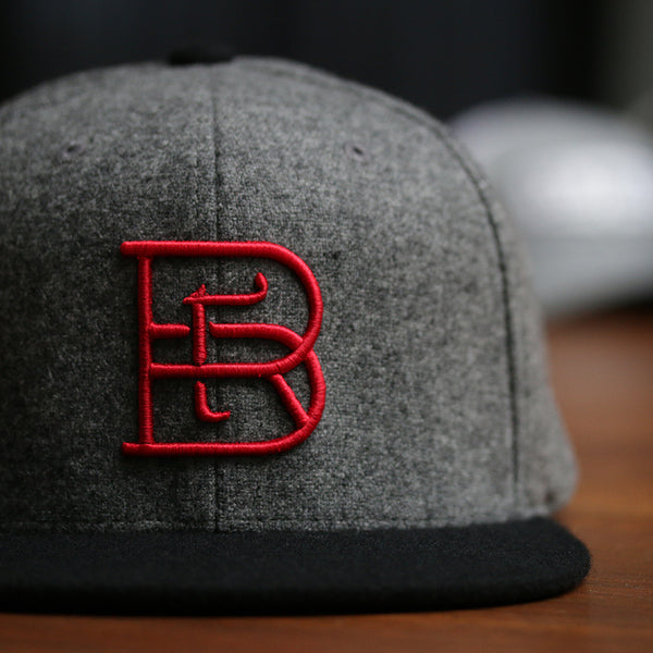 3D puff embroidery flat bill snapback melton wool Rare Barrel
