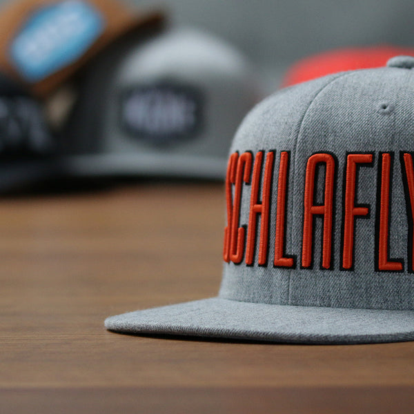 3D puff embroidery Schlafly flat bill snapback
