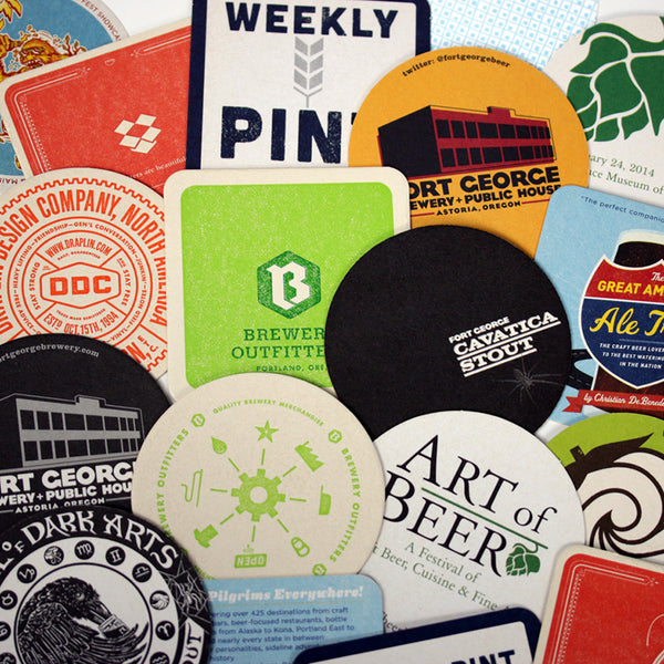 custom pulpboard coasters