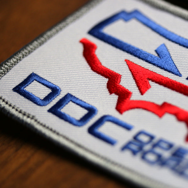 embroidered patch DDC Draplin open road