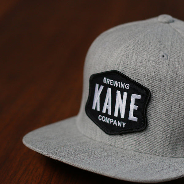 embroidered patch flat bill snapback Kane Brewing