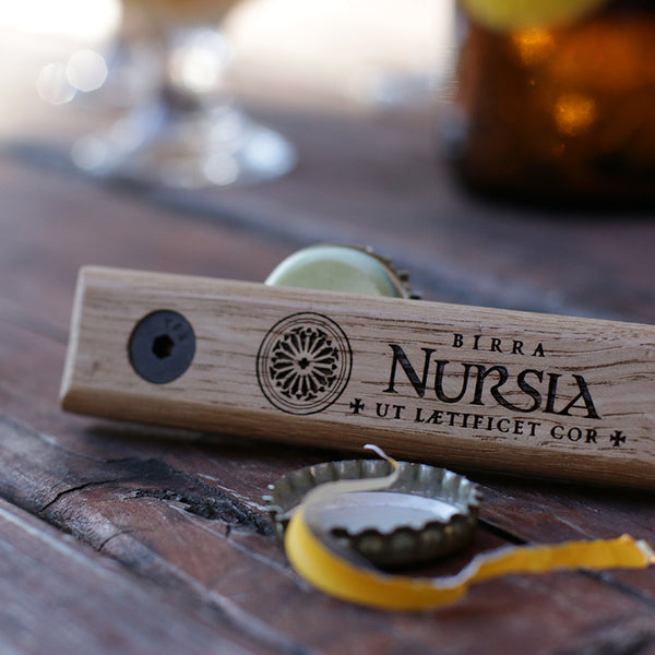 Quercus Alba upcycled oak barrel bottle opener