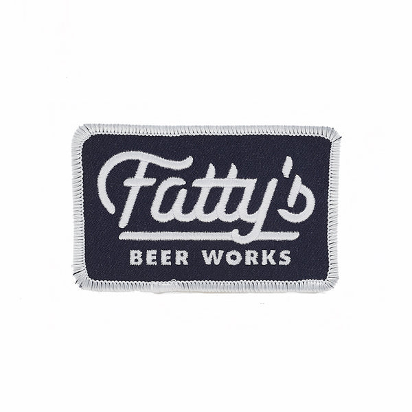Fattys Beer Works brewery patch design by J.Fletcher
