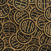 Embroidered BEER patch with gold embroidery thread on black felt