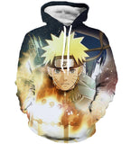 Naruto 3d colorful pullover hoodie