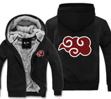 naruto zip-up hoodie warm fleece
