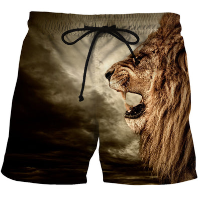 Lion Board Shorts Swim Trunks