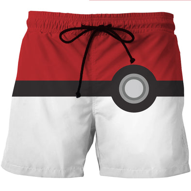 pokemon pokeball board shorts swim trunks