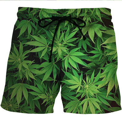 420 weed board shorts swim trunks
