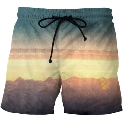 Sunset Board Shorts - 3D Designed Swim Trunks Styled Shorts-Hoodie Time - Anime and Gaming Hoodies