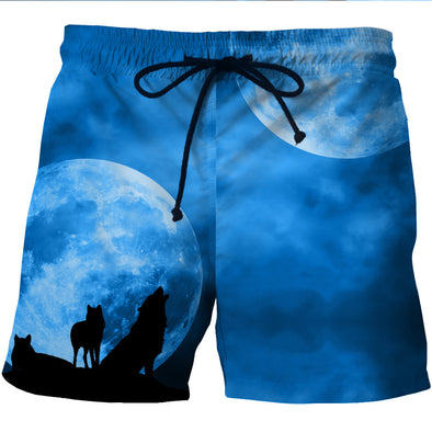 Wolf Moon Board shorts swim trunks boardshorts