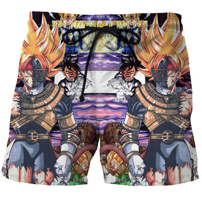 Bardock gohan vegeta uub board shorts swim trunks dragon ball z