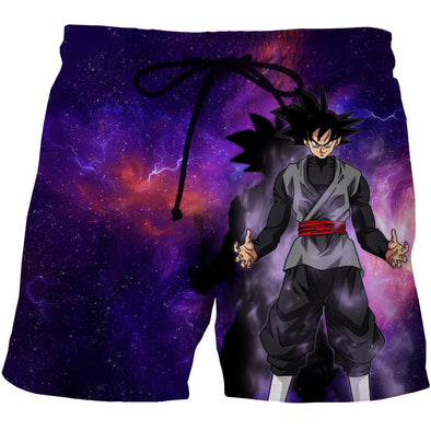 Goku Black Galaxy Board Shorts - Dragon Ball Super Z Boardshorts - DBZ Swim Trunks-Hoodie Time - Anime and Gaming Hoodies