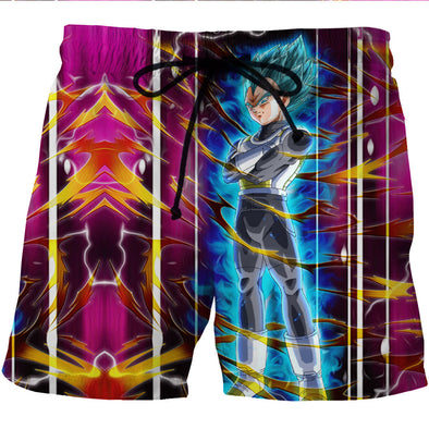 Super Saiyan Blue Vegeta Board Shorts - Dragon Ball Z Boardshorts - DBZ Swim Trunks-Hoodie Time - Anime and Gaming Hoodies