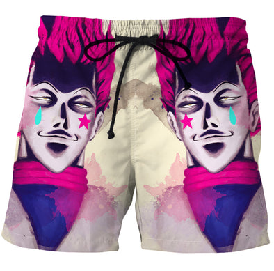 hisoka board shorts swim trunks hunter x hunter