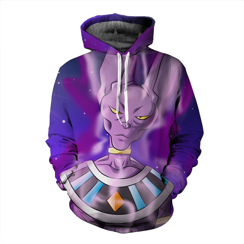 083dc0a60ad0c Dragon Ball Super Z - Beerus God of Destruction Hoodie - Pullover 3D Hoodie