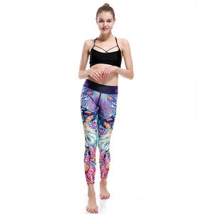 Swimming Fish Blue Water Yoga Pants - 3D Printed Sexy Leggings-Hoodie Time - Anime and Gaming Hoodies