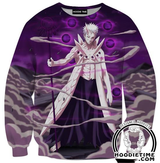 10 Ten Tails Obito Sweatshirt - Naruto Sweaters - Full Print Clothing-Hoodie Time - Anime and Gaming Hoodies