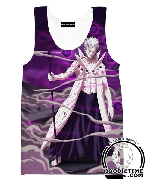 10 Ten Tails Obito Tank Top - Naruto Gym Shirts - Full Print Clothing-Hoodie Time - Anime and Gaming Hoodies