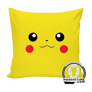 Pikachu Throw Pillow - Pokemon Couch Pillow - Printed PIllows-Hoodie Time - Anime and Gaming Hoodies