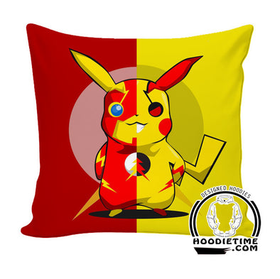 Pikachu Flash Throw Pillow - Pokemon Couch Pillow - Printed PIllows-Hoodie Time - Anime and Gaming Hoodies
