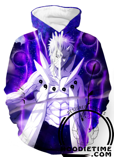 Naruto - Obito Ten Tails God Mode - Pullover Hoodie 3D-Hoodie Time - Anime and Gaming Hoodies